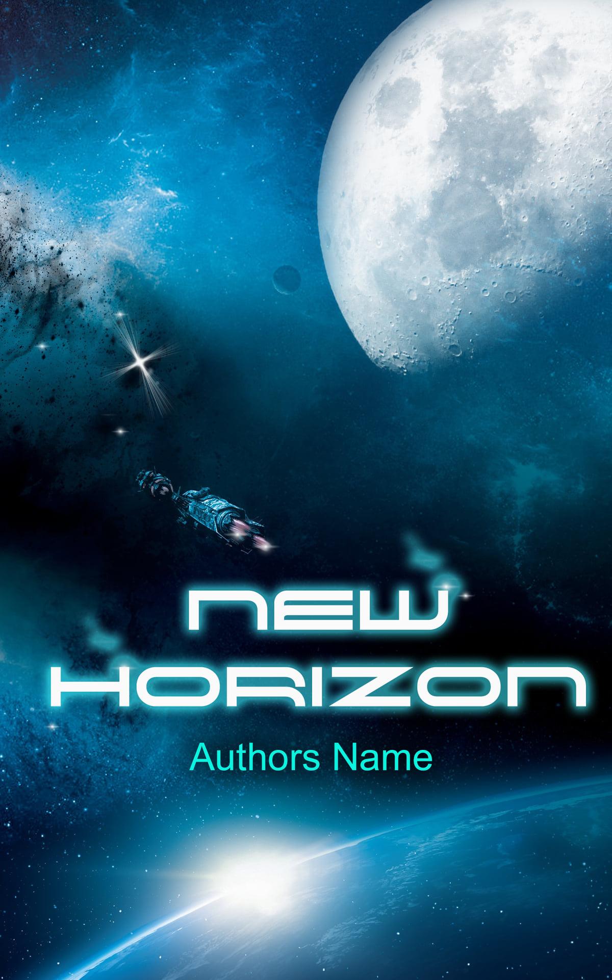 """Premade-Cover """"New Horizon"""", geeignet für Science Fiction. Bei Interesse bitte per Mail oder telefonisch melden."""